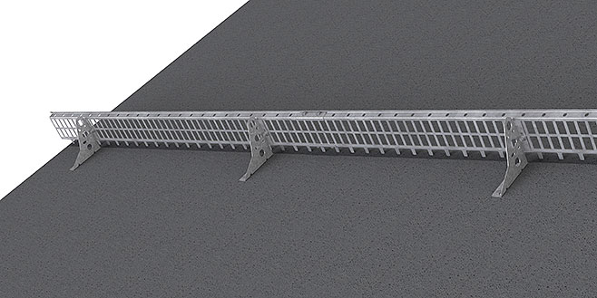 Snow guard made of profile grating med israstapp -  Flat roofs