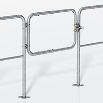 Adjustable gate for universal railing, standard