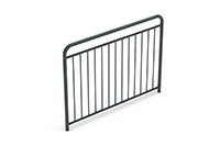 Universal railing childproof  (1500 mm) (Lacquered in gray (RAL 7011)) - GUB1542