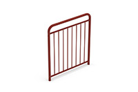 Universal railing childproof  (1000 mm) (Lacquered in red (RAL 3009)) - RUB1042
