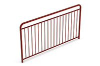 Universal railing childproof  (2000 mm) (Lacquered in red (RAL 3009)) - RUB2042