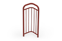 Universal railing childproof corner (400 mm) (Lacquered in red (RAL 3009)) - RUB4042