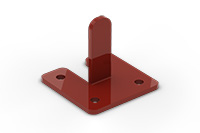 Fixing for top installation singel 42mm (Lacquered in red (RAL 3009)) - RUG1000